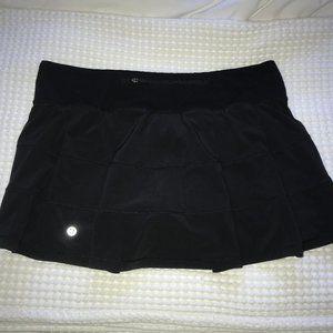 Lululemon Black Pace Rival Skirt (Regular) 4-way